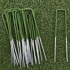 Green Artificial Grass U Pins Metal Galvanised Pegs Staples Turf Weed Control