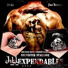 punk visual rock tattoo the expendables raven skull titanium steel ring【J1A646】