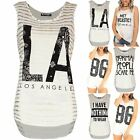 Womens Ladies Me Sarcastic Gold Stripes Stretchy Curved Hem High Low Vest Top