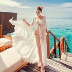 Stylish Summer Beach Bikini Cover up Sexy Chiffon Swimwear Long Full EN24H