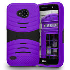 For LG X Charge Hard Gel Rubber KICKSTAND Case Phone Cover Accessory