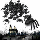 Plastic Spider Trick Toys Party Halloween Haunted House Prop Decor 20/50/100Pcs