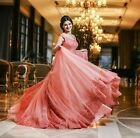 Lace Appliques Coral Ball Gown Quinceanera Dress Prom Formal Dress Bridal Dress