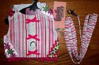 Cha Cha Couture Cabana Girl Dog Harness Vest Leash Dog Clothes (XS or Large)