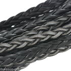 Wholesale Lots Black Leatheroid Braided Cord Necklace Bracelet Jewelry Craft DIY