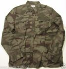 True Religion Men's Olive Camouflage Western Button Front Shirt
