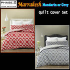 3 Pce Marrakesh Quilted Quilt Doona Duvet Cover Set by Phase 2 - QUEEN KING
