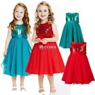 Flower Girl Princess Dress Kid Party Pageant Wedding Bridesmaid Tutu Dresses D88