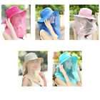 Adjustable Wide Brim Anti-mosquito Mask Hat Net Mesh Face Protection Cap Outdoor