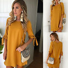 Fashion Summer Women Short Sleeve Dress Casual Party Evening Cocktail Mini Dress