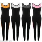 Fashion Women Sports Pants Mesh Slim Fit Bodycon Yoga Gym Running Jumpsuit HX