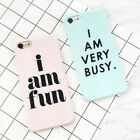 New Funny Letter Frosted Hard PC Back Cover Phonr Case For iPhone 6 6S 7 Plus 5S
