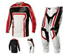 NEW TROY LEE DESIGNS GP AIR FACTORY MX DIRT GEAR COMBO BLACK/RED SIZE 32/MEDIUM