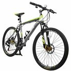 "Merax Finiss 26"" Aluminum 21 Speed Mountain Bike with Disc Brakes Bicycle"