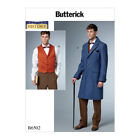 Butterick Sewing Pattern B6502 | Mens Single-Breasted Lined Coat & Vest