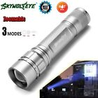 Tactical 15000LM 3 Modes LED T6 LED Flashllight 18650 Torch Lamp Silver G1