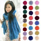 Lady Girls Pure Candy Colour Crinkle Long Soft Scarf Wrap Shawl Stole Wholesale