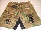 US ARMY SPECIAL FORCES SF COMBATANT MMA PT FIGHT NEW CAMO BOARD SHORTS  4XL- 5XL