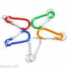 Wholesale Gift Carabiners Climbing Key chains Clips Hooks Mixed 5x2.5cm 16x2mm