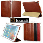 Retro Genuine Cow Leather Case Smart Stand Cover For iPad Air Pro 2017