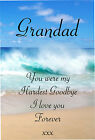 General Male Female Graveside Memorial Keepsake Card G3