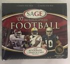 2007 Sage Autographed Factory Sealed Football Hobby Box