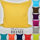 Plain Dye Colorful 100% Cotton Cushion Covers Home Sofa Pillow Case 40,45 ,50 CM