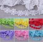 2~10 Yards 1''  Width Embroidered Venise Trim Lace DIY Sewing Applique Wedding
