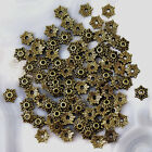 Flower Beads 80pcs Cap Antique Copper Brass Silver Jewelry Findings making