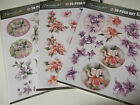 Jeaninnes Art With Sympathy A4 3D Die Cut Decoupage Sheet Various Designs