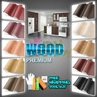 *Wood Grain Teak Oak Cherry Ebony Vinyl Wrap Sticker Dash Trim Air Bubble Free