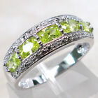 GORGEOUS PERIDOT 925 STERLING SILVER RING SIZE 5-10