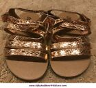 Old Navy NWT Rose Gold Copper METALLIC FAUX LEATHER STRAP DRESS SANDALS SHOES 8