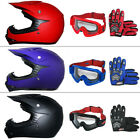 LEOPARD Youth Kids Motocross Helmet MX Off Road Gloves Goggles Matt MOTORCROSS