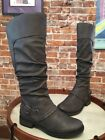 Bare Traps Sheridan Grey Ruched Riding Boot NEW