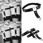 Bras Bra Sets - Women Sex Toy Harness Cage Bra Elastic Strap Body Chain Thigh High Garter Belt
