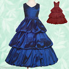 Dresses Ball Gown Wedding Flower Girl Bridesmaid Prom Party Occasion 2y-11y 094