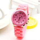 New Colorful Geneva Jelly Silicone Sport Wrist Watch Six Stitches Women Lovely