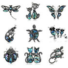 Fortunate Crystal Rhinestone Enamel Turtle Animals Insects Brooch Exquisite
