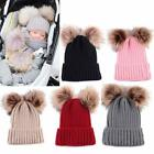 Newborn Kids Baby Boy Girl Pom Hat Winter Warm Crochet Knit Bobble Beanie Cap
