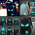 Fashion Noctilucent Backpack Cartoon Casual Travel School Bags.USB Charging Port