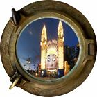 Huge 3D Porthole Luna Lark Sydney View Wall Stickers Mural Art Decal Wallpaper