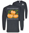 Southern Couture Preppy Lets Go Pumpkin Pickin Fall Long Sleeve T-Shirt