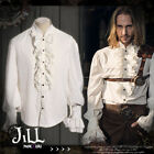 Steampunk goth Highlander aristocrat flounce button fly dress shirt【JRSPM002】