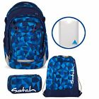 satch MATCH 4er Set Blue Crush Rucksack Schlamperbox Turnbeutel Stylerbox