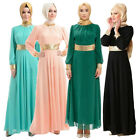Vintage Muslim Women Kaftan Islamic Maxi Long Sleeve Arab Jilbab Abaya Dress New