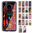 For Motorola Moto E4 Liquid Glitter Quicksand Hard Case Cover + Screen Protector