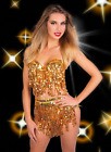 Sequin Fringe High Waist Boyshorts & Bra Top Set Salsa Dance Burlesque Costume
