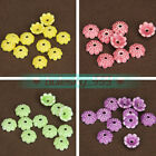 10pcs 10X4mm Flower Shape Ceramic Loose Spacer Bead Caps DIY Jewelry Findings