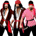 Pirate Mens Fancy Dress Book Day Caribbean Buccaneer Swashbuckler Adults Costume